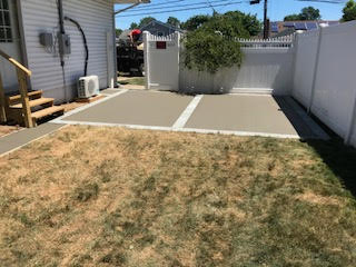 GM Mason small concrete patio