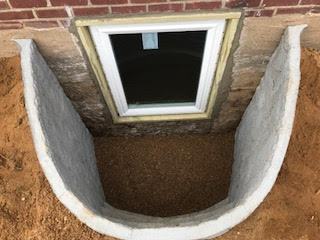 GM Masons Basement Window Well Installation