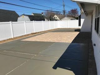 GM Masons Finished Concrete Patio