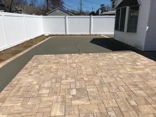 GM Masons Paver Concrete Backyard Patio