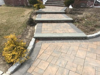 GM Masons Paver Steps and Stoop