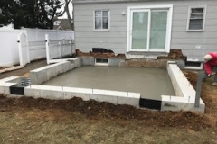 GM Masons Back Yard Foundation House Extension