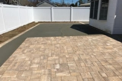 GM Masons Paver Concrete Backyard Patio